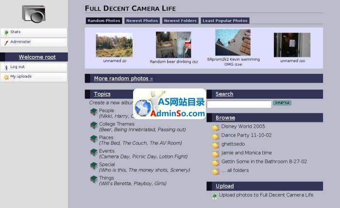 Camera Life 相册管理系统