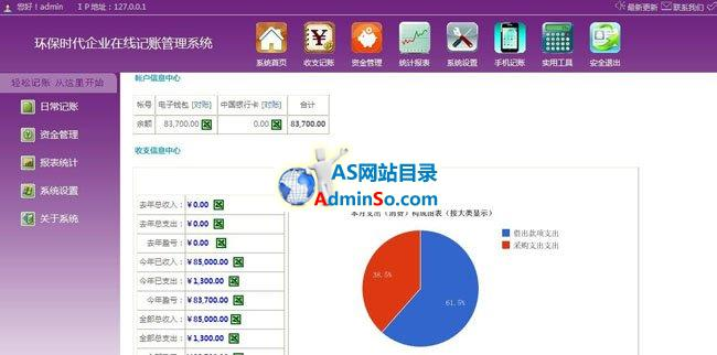 环保时代企业在线记账管理系统