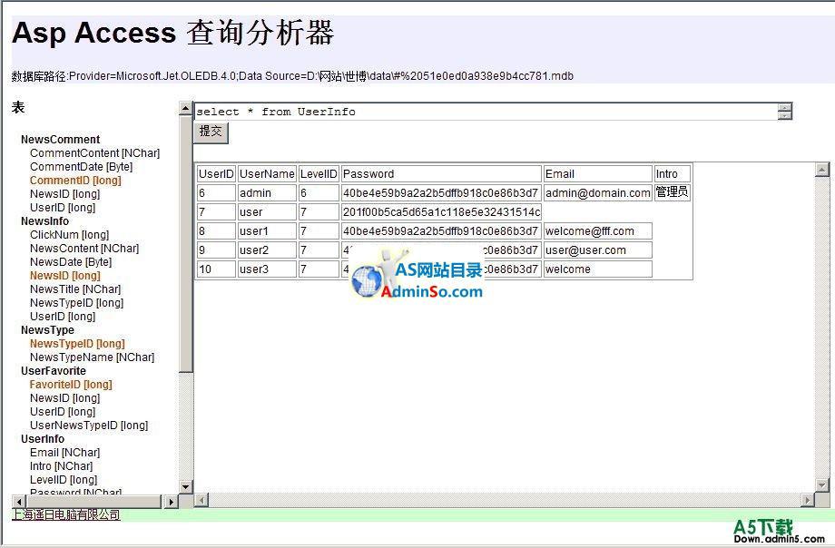 Asp Access 查询分析器