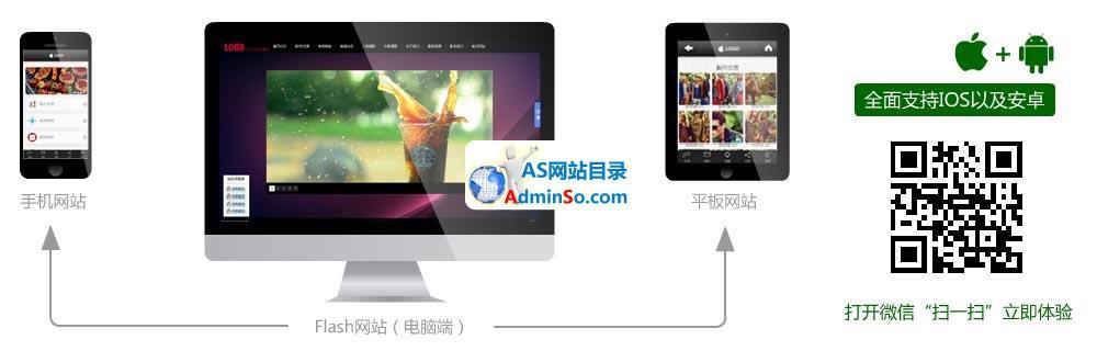 3D方块Flash网站系统