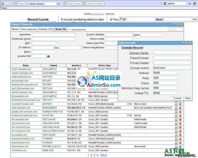 OpenNetAdmin主机管理系统